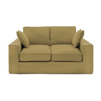 Canapea cu 2 locuri Vivonia Jane, muștar