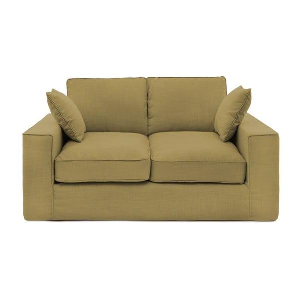 Musztardowa sofa dwuosobowa Vivonita Jane