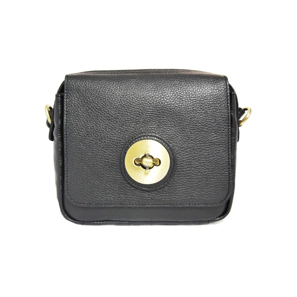 230f98237e Černá kožená kabelka Luciano Calboni Sara