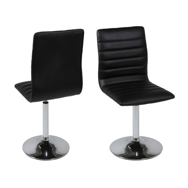 Sada 2 černých jídelních židlí Actona Piper Dining Set