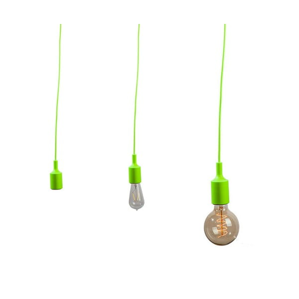 Textilní kabel s objímkou 3 m - zelený