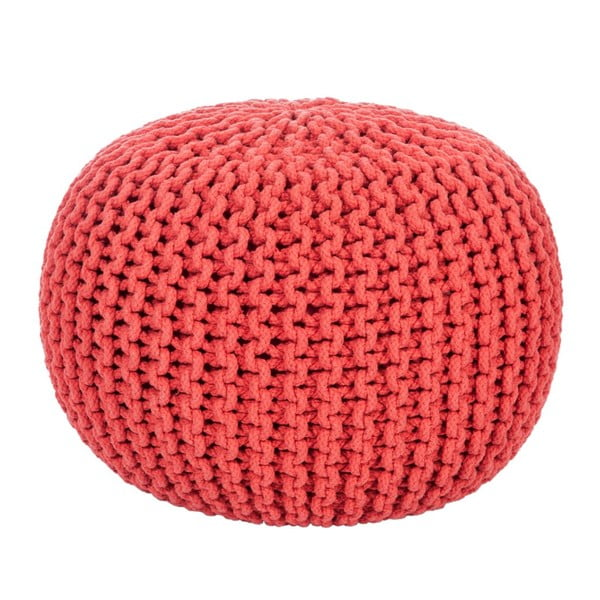 Puf Knitted Red, 35x50 cm
