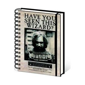 Linkovaný zápisník A5 Pyramid International Harry Potter: Sirius Black, 80 stran