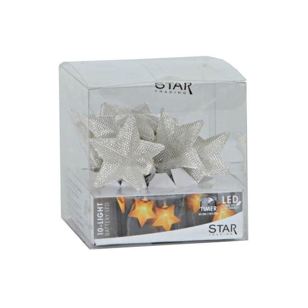 Svítící LED řetěz Best Season Net Stars Silver