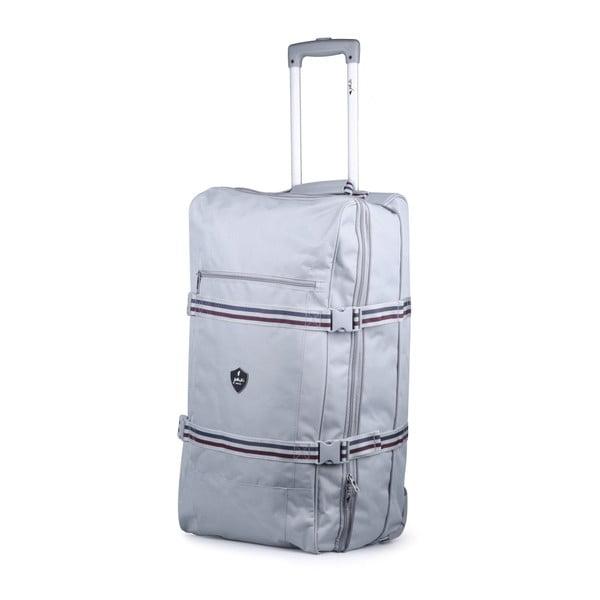 Svetlosivá cestovná taška na kolieskach GENTLEMAN FARMER Curreo, 80 l