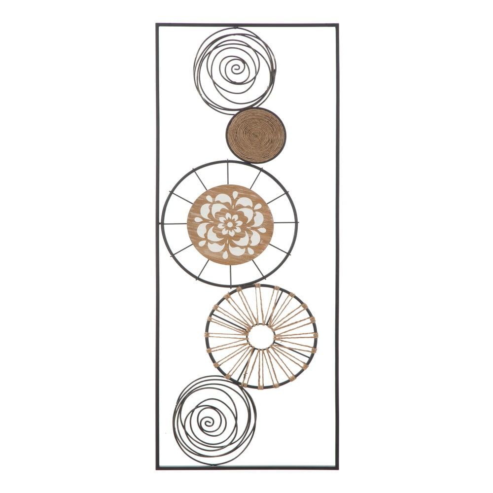 Nástěnná kovová dekorace Mauro Ferretti Masai B, 35x90cm