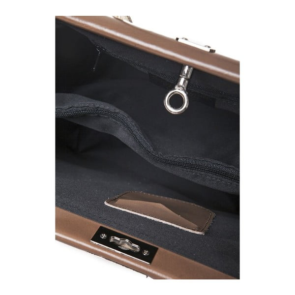 Kožená kabelka Gelso, béžová