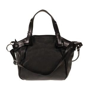 Černá kožená kabelka Giulia Bags Calista