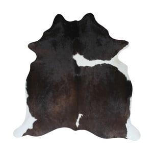 Covor din piele de vacă, 195 x 175 cm, negru - maro