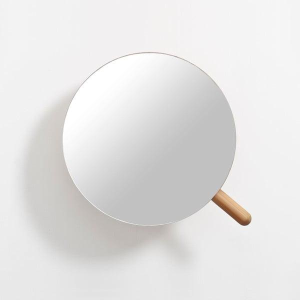 Nástěnné kosmetické zvětšovací zrcadlo zdubového dřeva Wireworks