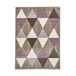 Béžovofialový koberec Think Rugs Brooklyn, 160x220cm