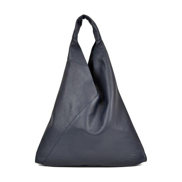 Tmavomodrá kožená nákupná taška Anna Luchini