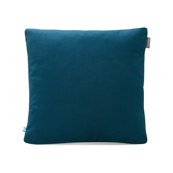 Modrý povlak na polštář Mumla Velour, 45 x 45 cm