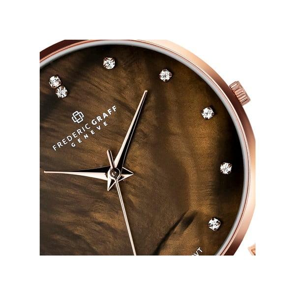 Dámské hodinky s hnědým páskem z pravé kůže Frederic Graff Lychee