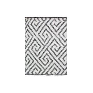 Ručně tkaný koberec Kilim Design 69 Black/White, 160x230 cm