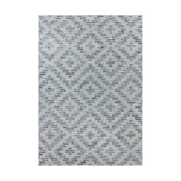 Modro-šedý koberec vhodný do exteriéru Elle Decor Curious Creil, 77 x 150 cm