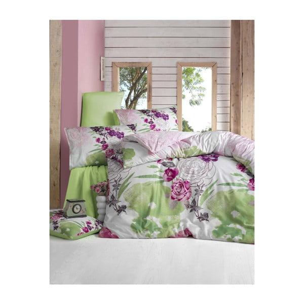 Lenjerie de pat cu cearșaf Lamita, 200 x 220 cm