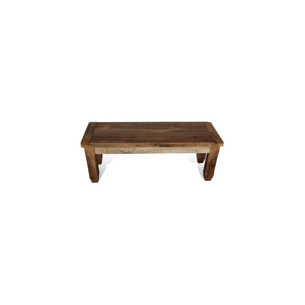 Jídelní lavice z mangového dřeva Massive Home Patna, 120 cm