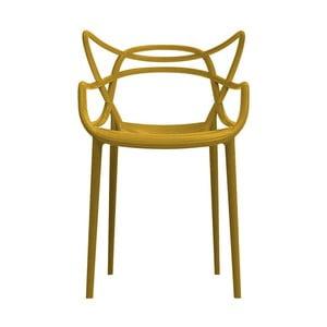 Hořčicová židle Kartell Masters