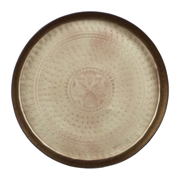Dekorativní podnos s mosazným detailem De Eekhoorn Waitress, Ø44cm
