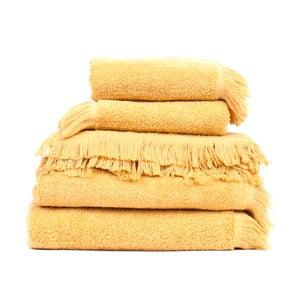 Set 8 prosoape baie bumbac Casa Di Bassi Sun, galben
