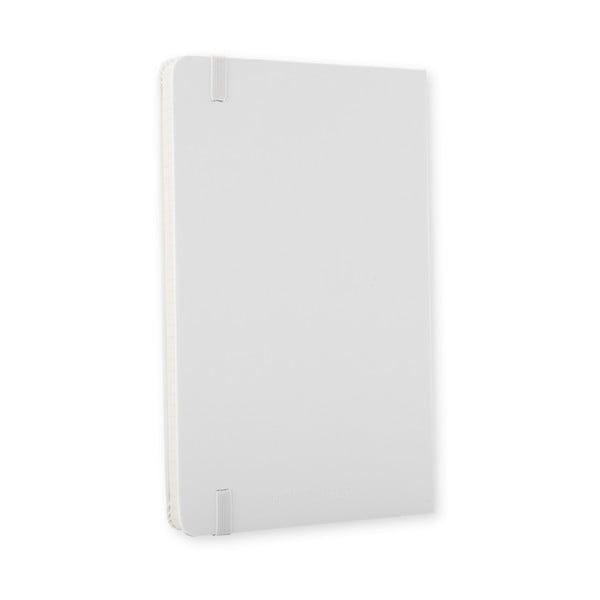 Bílý zápisník Moleskine Hard, malý, čtverečkovaný