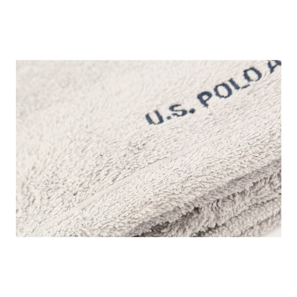 Ručník US Polo Hand Towel Grey, 50x90 cm