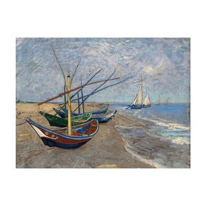 Reproducere tablou Vincent van Gogh - Fishing Boats on the Beach at Les Saintes-Maries-de la Mer, 40x30 cm