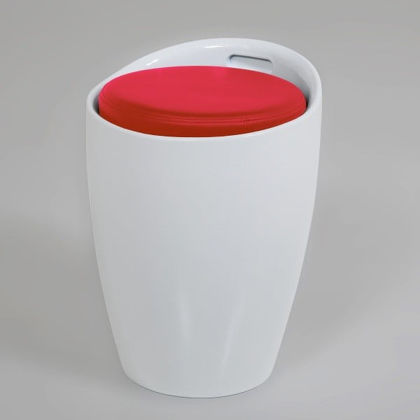 Bíločervená  stolička s úložným prostorem Actona Minxie