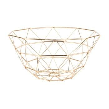 Fructieră PT LIVING Diamond, ⌀ 30 cm, auriu imagine