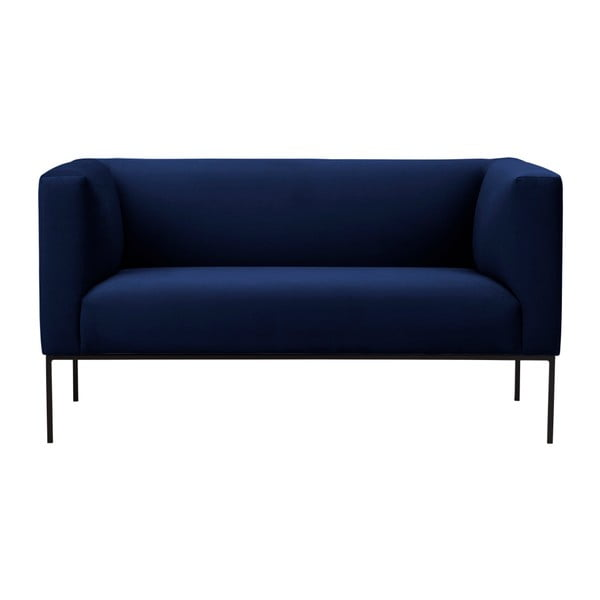 Ciemnoniebieska aksamitna 2-osobowa sofa Windsor & Co Sofas Neptune