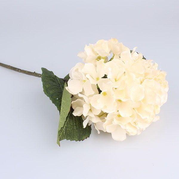Dekoracyjny kwiat białej hortensji Dakls