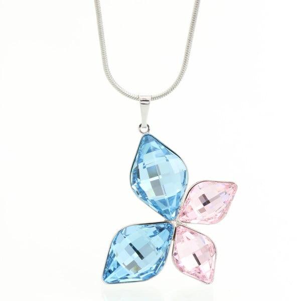 Náhrdelník se Swarovski Elements, modrý motýlek