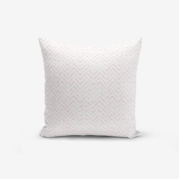 Față de pernă cu amestec din bumbac Minimalist Cushion Covers Fusya Colorful Zigzag Modern, 45 x 45 cm de la Minimalist Cushion Covers