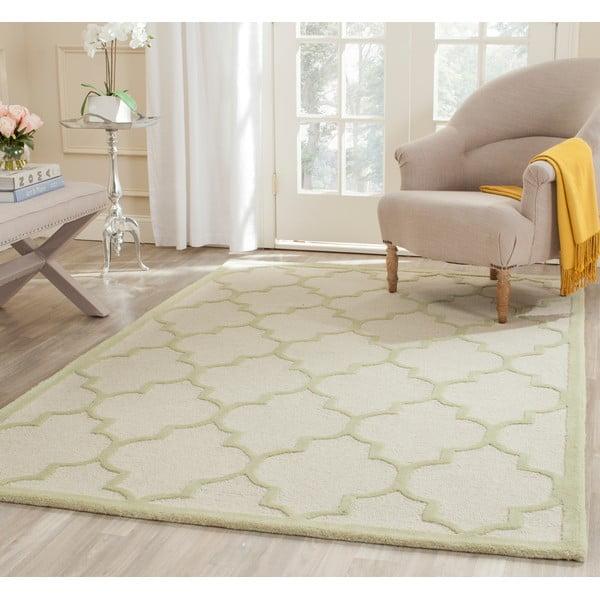 Světlý vlněný koberec Safavieh Everly, 152x243cm
