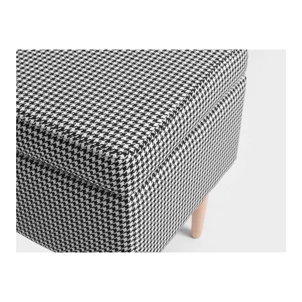 Taburet cu spațiu de depozitare Custom Form Edi, gri