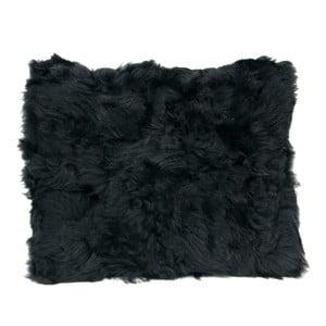 Kožešinový polštář 40x50 cm, černý