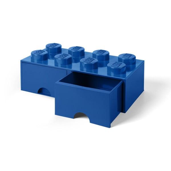 Cutie depozitare cu 2 compartimente LEGO®, albastru