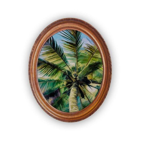 Owalny obraz ścienny Velvet Atelier Palm Tree