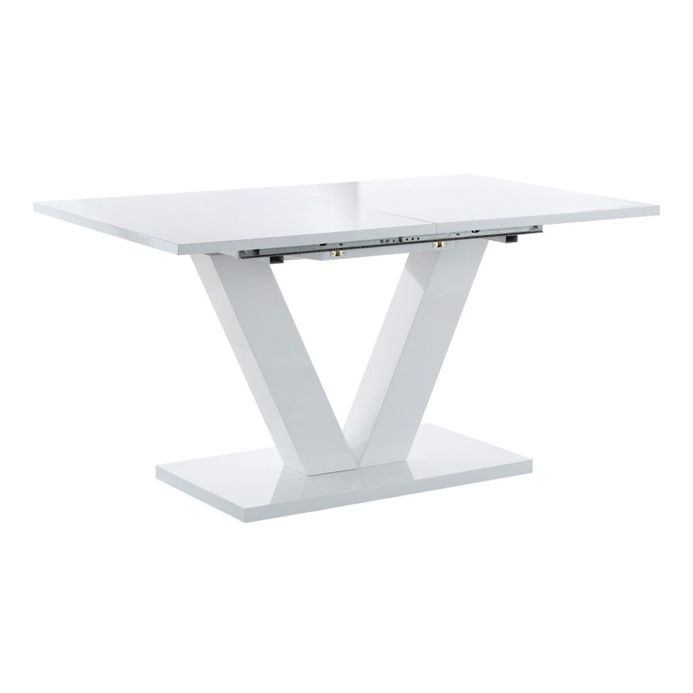 Bílý rozkládací jídelní stůl Støraa Aaron,140x90cm