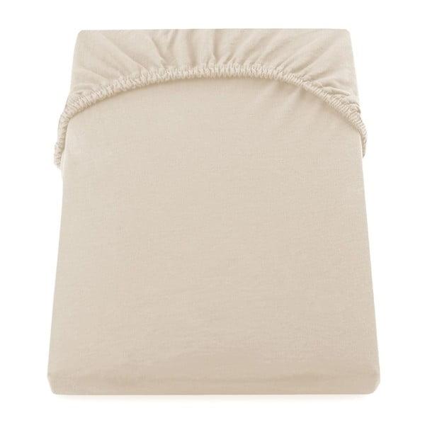 Cearșaf de pat cu elastic DecoKing Nephrite, 140–160 cm, bej