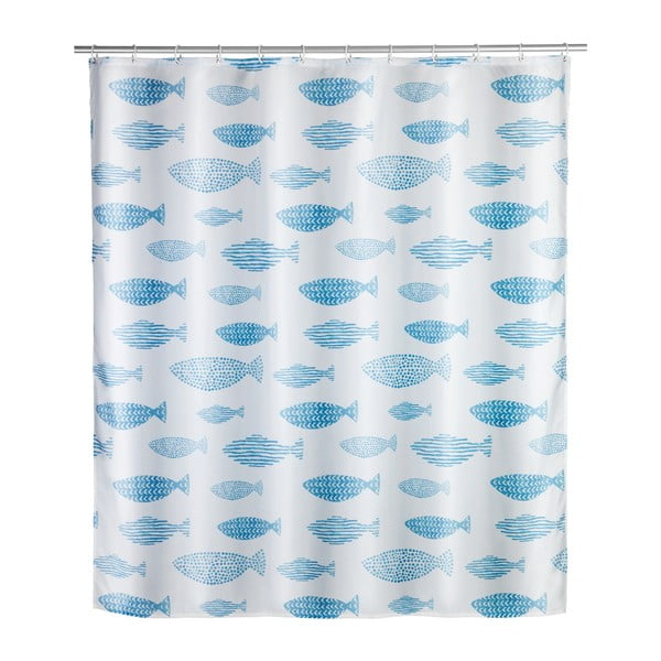 Sprchový závěs odolný vůči plísním Wenko Aquamarin, 120x200cm