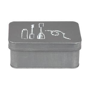 Šedý kovový box na kosmetiku LABEL51