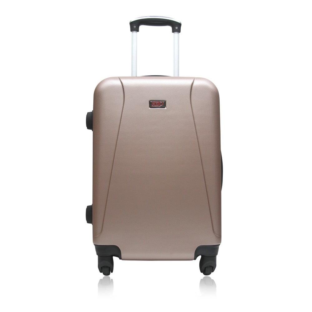 Hnědý cestovní kufr na kolečkách Hero Tour, 36 l