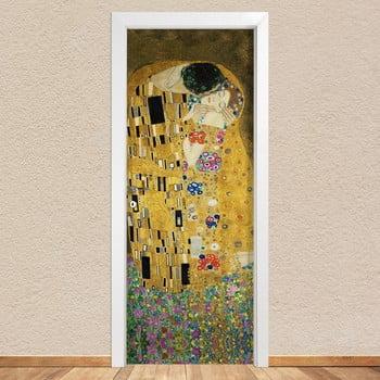 Autocolant pentru ușă LineArtistica Bacio Klimt 80 x 215 cm