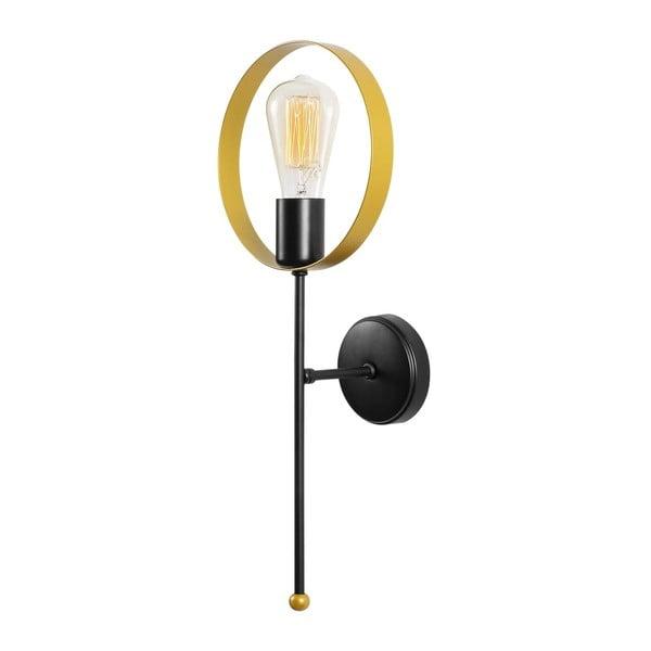 Černé kovové nástěnné svítidlo Opviqlights Theo