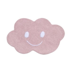 Covor din bumbac Happy Decor Kids Cloud, 75 x 115 cm, roz
