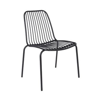 Scaun potrivit pentru exterior Leitmotiv Lineate, negru de la Leitmotiv