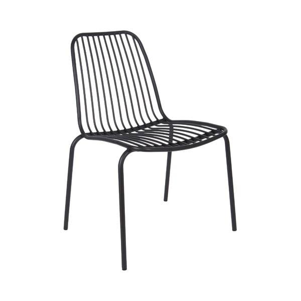 Czarne krzesło odpowiednie na zewnątrz Leitmotiv Lineate