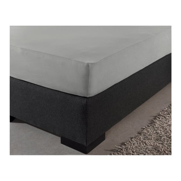 Cearșaf de pat din bumbac ranforsat Zensation Zen, 90 x 200 cm, gri